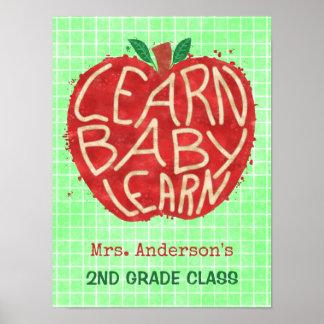 A sala de aula Apple | do professor aprende o nome Poster