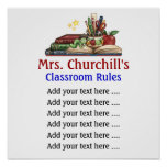 A sala de aula do professor ordena o Lg. por SRF Posteres