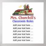 A sala de aula do professor ordena o Lg. por SRF Pôsteres