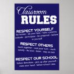 A sala de aula ordena o poster