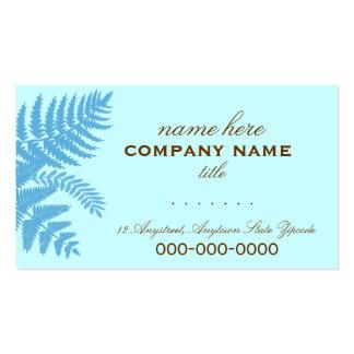 A samambaia azul & castanho chocolate sae do cartã modelos cartões de visita