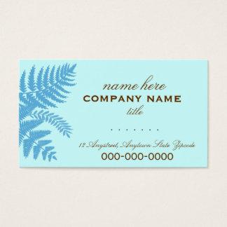 A samambaia azul & castanho chocolate sae do cartão de visitas
