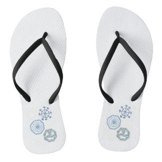 A sandália dos homens especiais do floco de neve