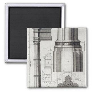 A segunda ordem da arquitetura gótico, 1741 ímã quadrado