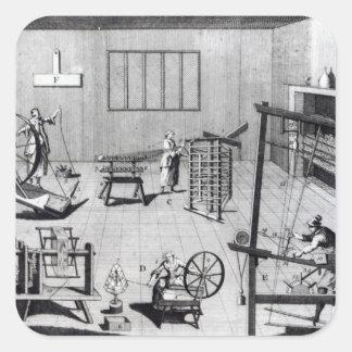 A segunda placa da fabricação de lã adesivos quadrados