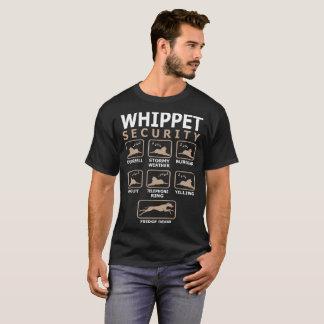 A segurança do cão de Whippet Pets a camiseta
