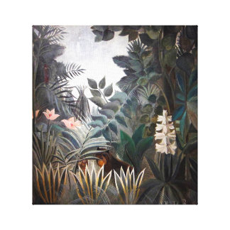 A selva equatorial impressão em canvas
