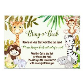 A selva traz um cartão de livro, safari traz um