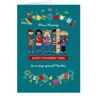 A semana dos professores felizes. Cartões