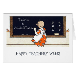 A semana dos professores felizes. Cartões da arte