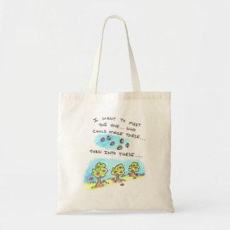 A semente é surpreendente…. bolsa tote