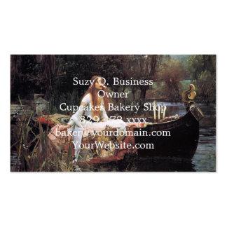 A senhora da pintura do shalott cartão de visita