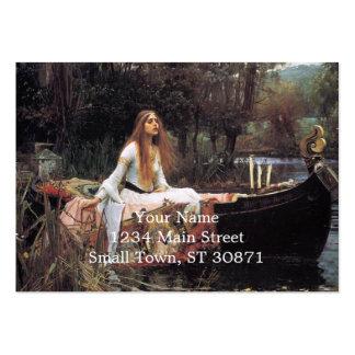 A senhora da pintura do shalott cartão de visita grande