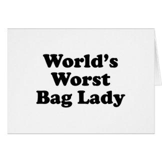 A senhora de saco a mais má do mundo cartao