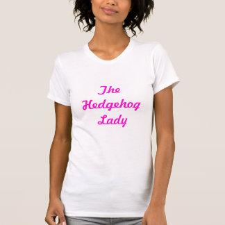 A senhora do ouriço camisetas