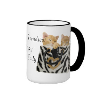 A senhora louca a mais na moda Caneca do gato do m