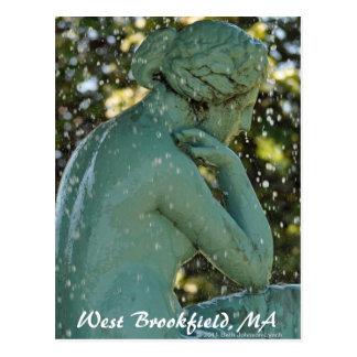 A senhora no cartão ocidental de Brookfield da