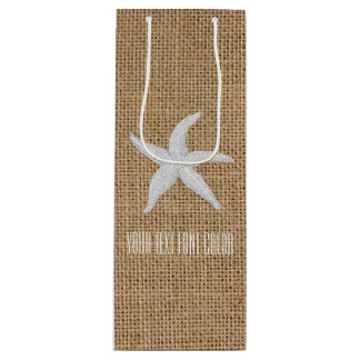 A serapilheira da estrela do mar personaliza sacola para vinho