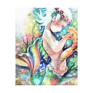 """A """"sereia ama canvas do cavalo marinho"""""""