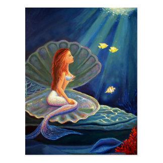 A sereia da parte superior - cartão