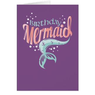 A sereia do aniversário caçoa o cartão do marco