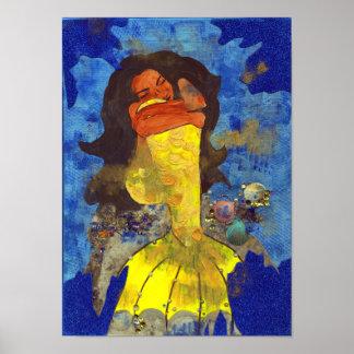 A sereia sonha o poster da arte