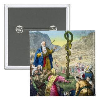 A serpente de bronze, de uma bíblia impressa por E Pins
