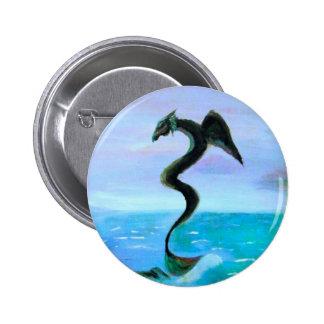 A serpente escura da água botons