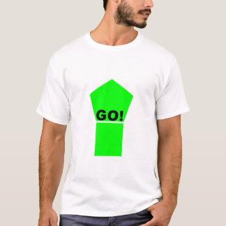 A seta ascendente verde-clara VAI! texto no Camiseta