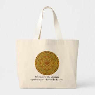A simplicidade é a sofisticação final… bolsa de lona