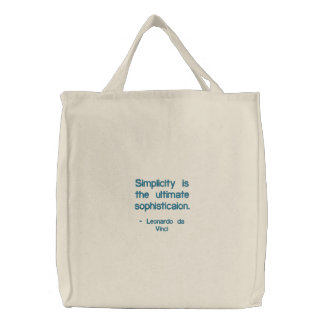 A simplicidade é o sophisticaion final., - Le… Bolsa Para Compra