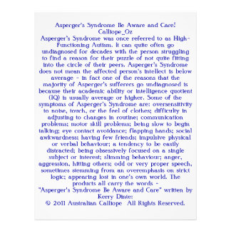 A síndrome de Asperger seja ciente e cuidado! Modelo De Panfleto