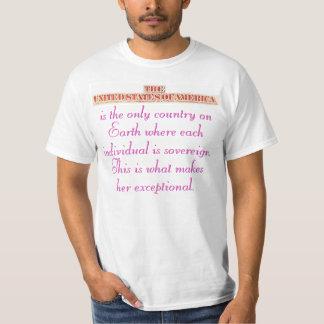 A soberania individual fá-la excepcional camiseta