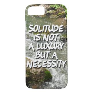 A solidão é uma capa de telefone da necessidade