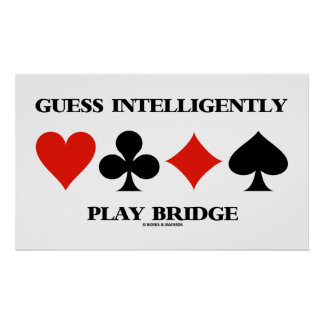 A suposição joga inteligente a ponte (quatro poster