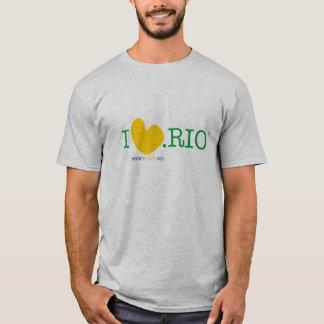 A T-merda básica dos homens de ILOVE.RIO Camiseta