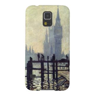 A Tamisa abaixo de Westminster - Claude Monet Capinhas Galaxy S5