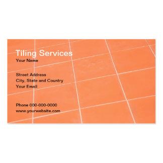 A telha presta serviços de manutenção ao cartão de cartão de visita