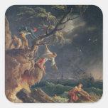 A tempestade, c.1762 adesivo quadrado