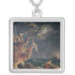 A tempestade, c.1762 colar com pendente quadrado
