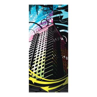 A tendência de silhuetas da construção 10.16 x 22.86cm panfleto
