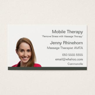 A terapia 2 da massagem tomou partido o cartão