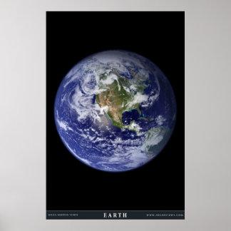 A terra do planeta poster