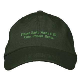 A terra do planeta precisa C.P.R. Chapéu Boné Bordado