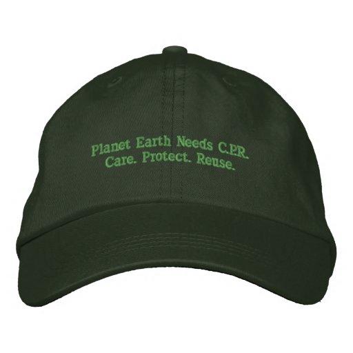 A terra do planeta precisa C.P.R. Chapéu Bonés