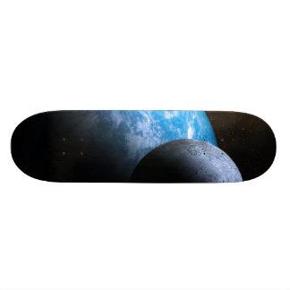 A terra e a lua shape de skate 19,7cm