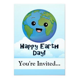 A terra é dia feliz convite 12.7 x 17.78cm