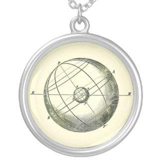 A terra e o pendente da esfera celestial colar com pendente redondo