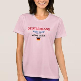 A terra Mein da mina da alemanha Seel a camisa