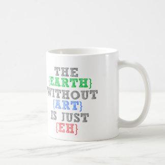 A terra sem arte é apenas Eh Caneca De Café